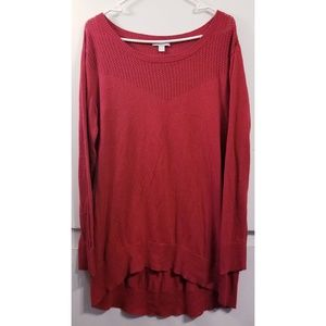 NY & Company Sweater • Red Oversized Scoop Neck